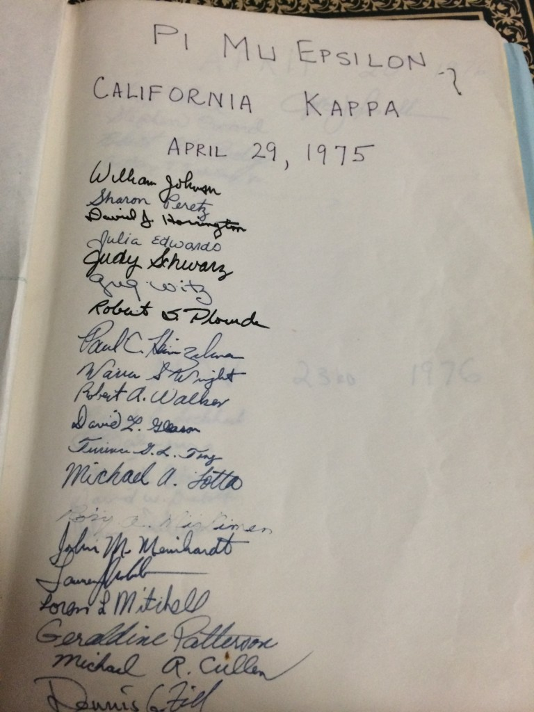 CA Kappa at Loyola Marymount  University - 1975
