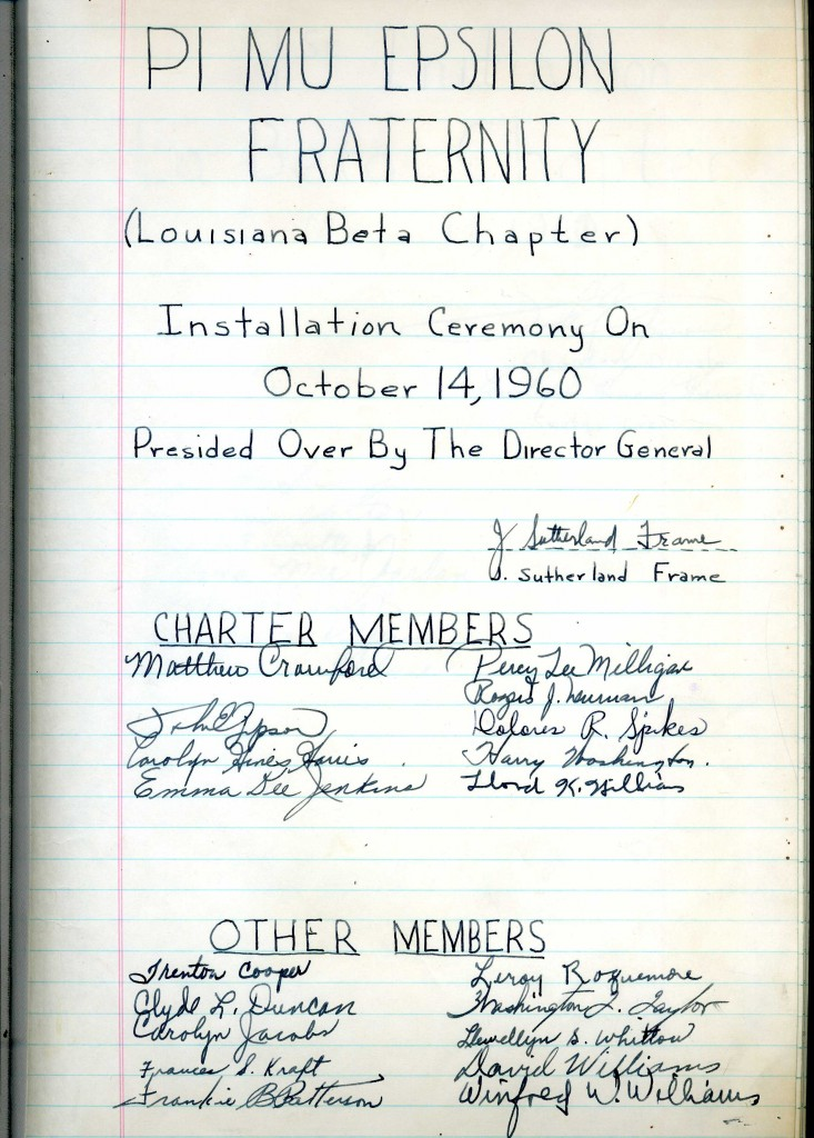 LA Beta at Southern University and A&M College - 1960